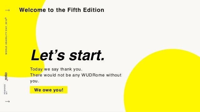 Carlo Frinolli - Welcome #WUDRome2018 Slide 3