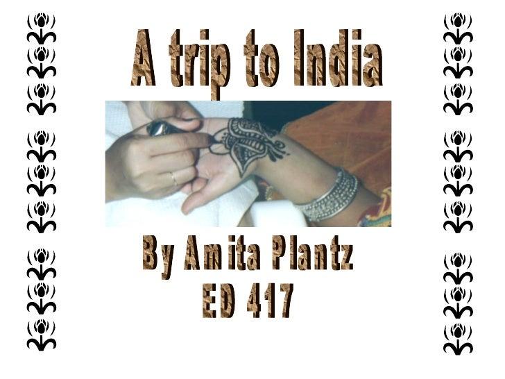 A trip to India By Amita Plantz ED 417