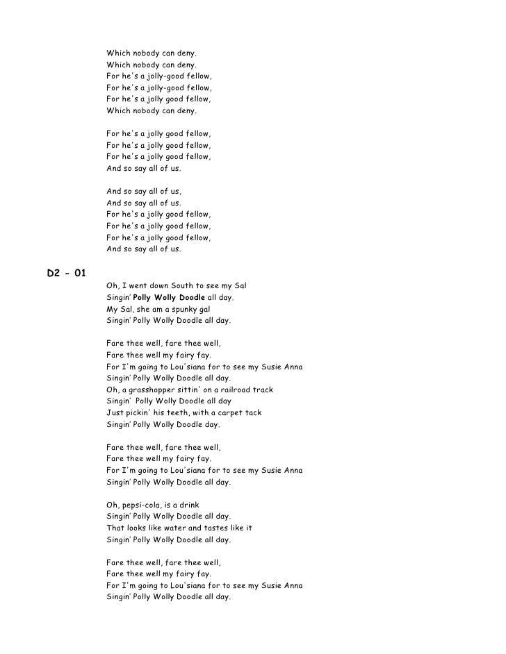 Lyric he wants it all lyrics : 00 Lyrics 100 Songs For Kids