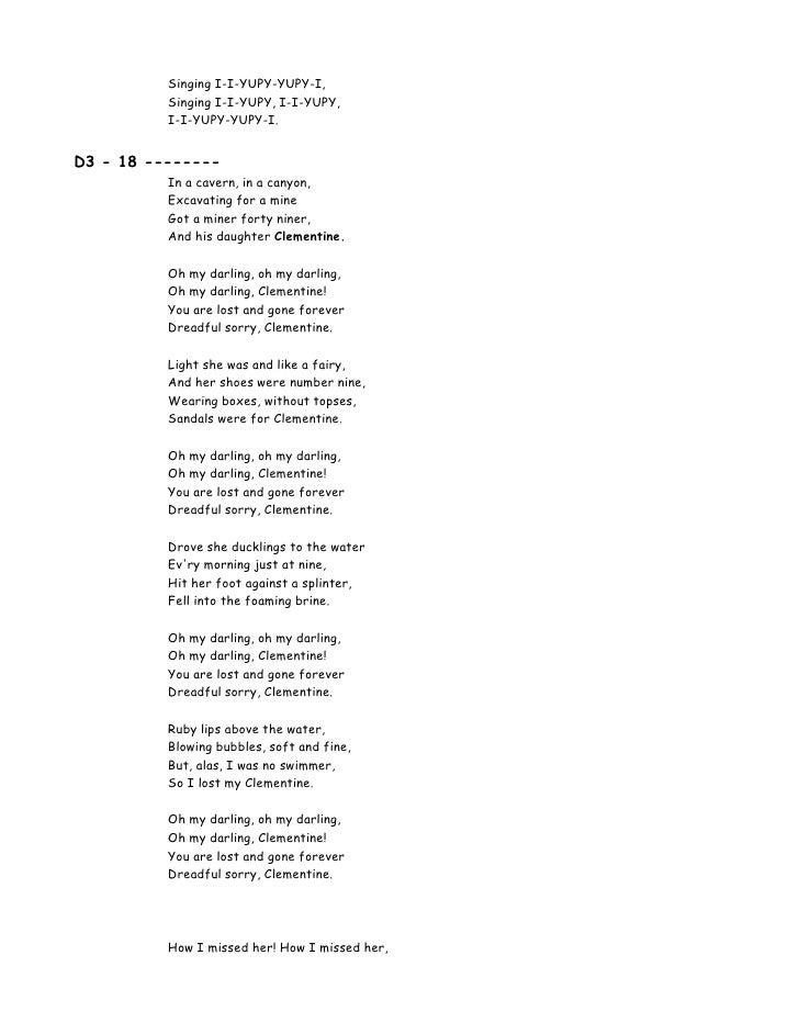 Lyric songs about texas lyrics : 00 Lyrics 100 Songs For Kids