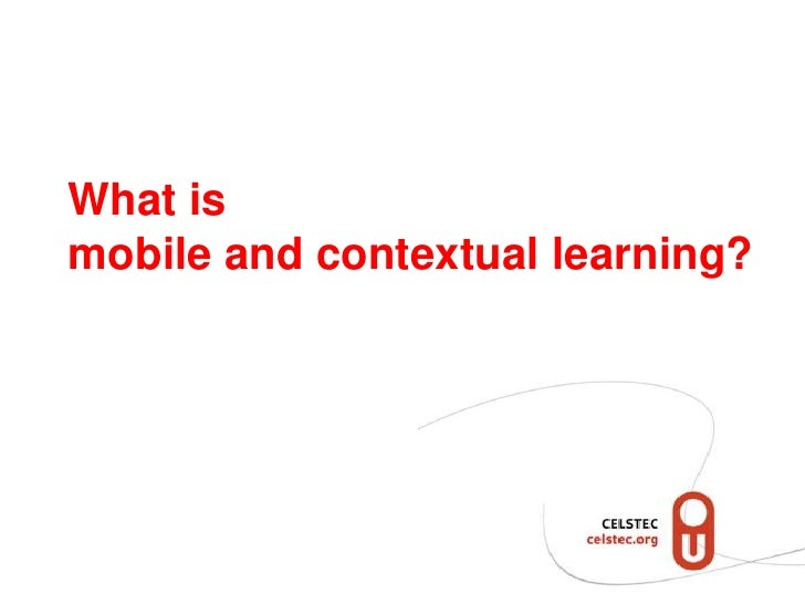 Structuring mobile and contextual learning Slide 2