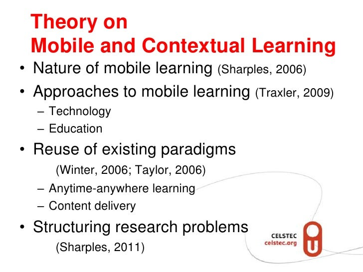 Structuring mobile and contextual learning Slide 3