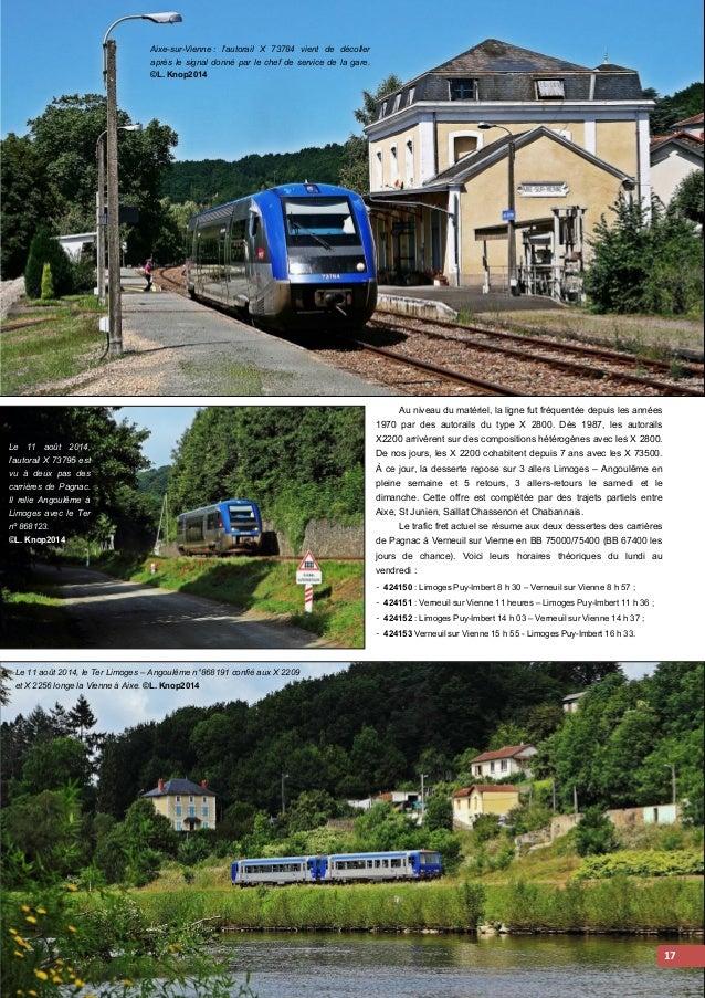 Le 11 août 2014, les BB 75061 et 75113 traversent Aixe sur Vienne alors qu'elles  remorquent le train 424150 Verneuil sur ...