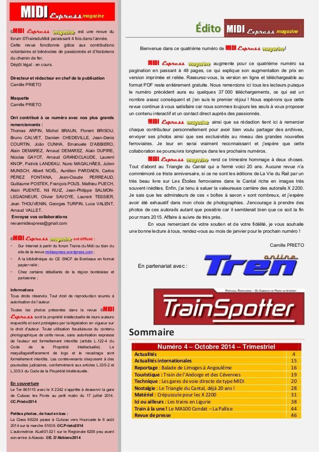 MMI IIDDI II EEx xxpppr rre ees sss ss magazine Acttualliittés  4  Approvisionnement LGV-SEA :  un trafic VFLI mis en plac...