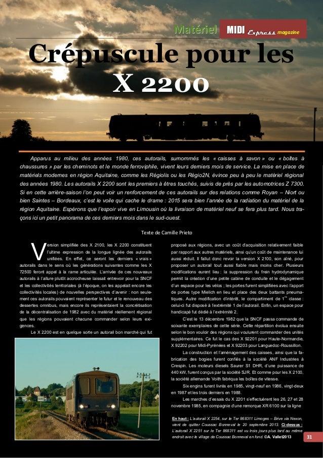 MMI IIDDI II EEx xxpppr rre ees sss ss magazine Mattériiell  32  Grenoble Veynes. Déclaré bon pour le service, le X 2201 r...