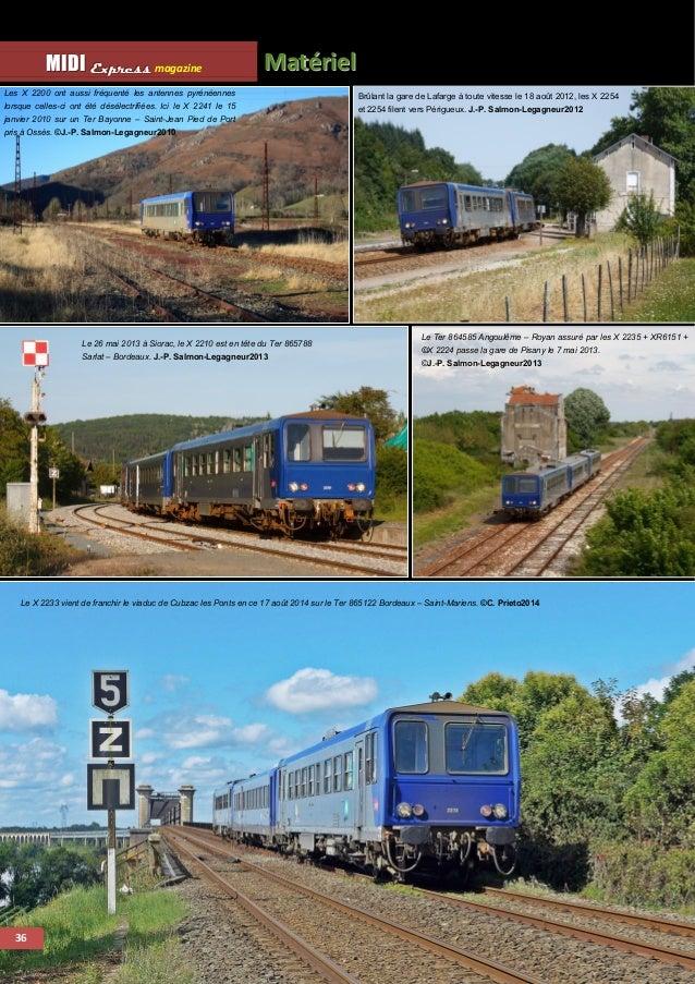 Mattériiell MMI IIDDI II EEx xxp ppr rre ees sss ss magazine  37  Source : Trains Sud-Ouest