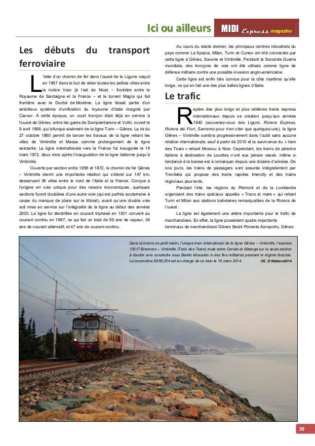 MMI IIDDI II EEx xxpppr rre ees sss ss magazine IIcii ou aiilllleurs  40  Voltri Mare, Savone Parco Doria et Vintimille Pa...