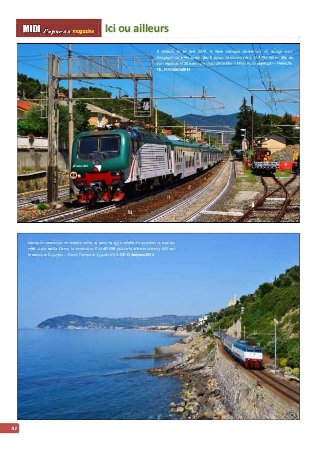 IIcii ou aiilllleurs MMI IIDDI II EEx xxpppr rre ees sss ss magazine  43  La locomotive E 656.042 traverse le village de C...