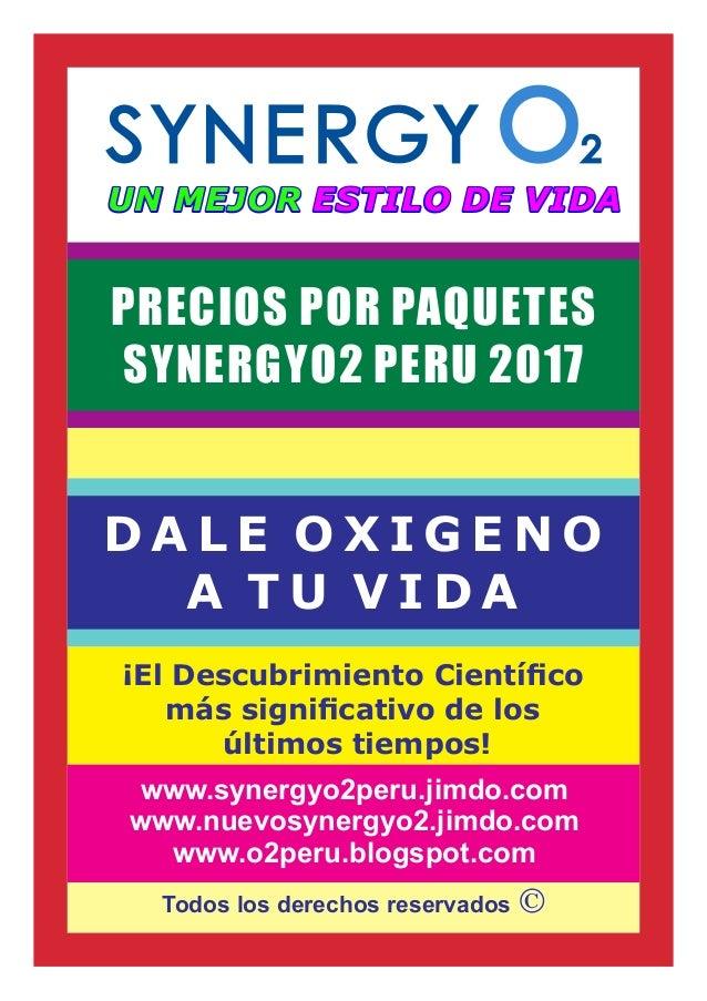 Todos los derechos reservados ¡El Descubrimiento Científico más significativo de los últimos tiempos! D A L E O X I G E N O ...