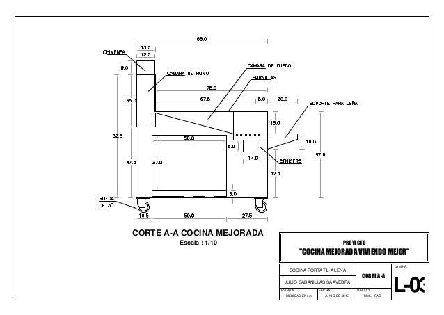 00 planos de cocina for Planos para fabricar una cocina cohete