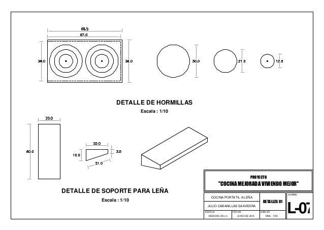 00 planos de cocina for Planos de cocina en linea