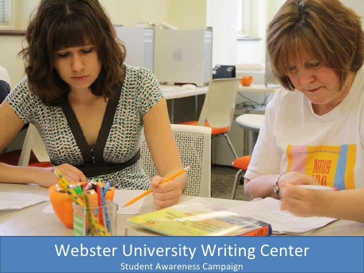 Webster University Writing Center Student Awareness Campaign