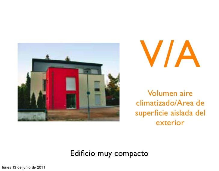 V/A                                                Volumen aire                                            climatizado/Are...
