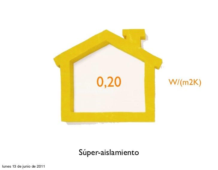 0,20            W/(m2K)                            Súper-aislamientolunes 13 de junio de 2011