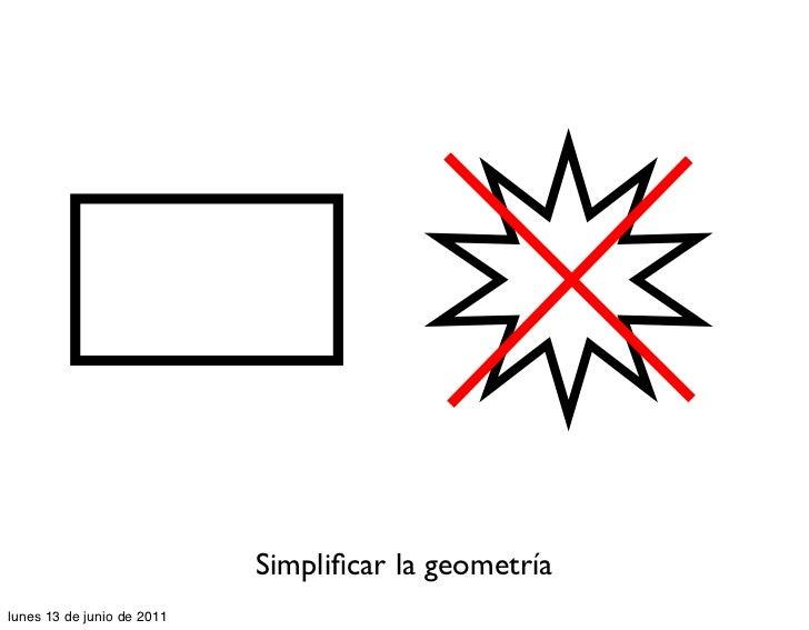 Simplificar la geometríalunes 13 de junio de 2011
