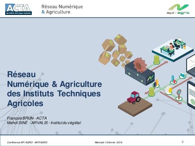 Présentation du Réseau Numérique & Agriculture de l'ACTA Slide 2
