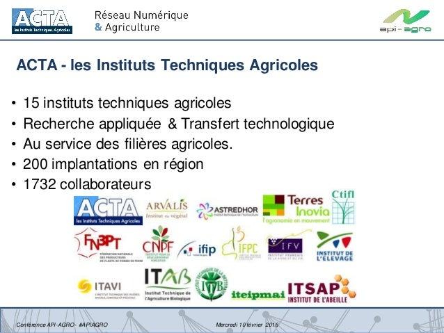 Présentation du Réseau Numérique & Agriculture de l'ACTA Slide 3