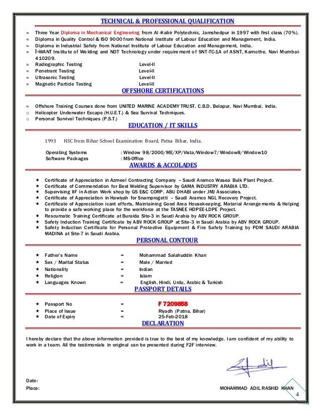 00 resume of site supervisor pipeline u0026 welding - Cover Letter Email Example