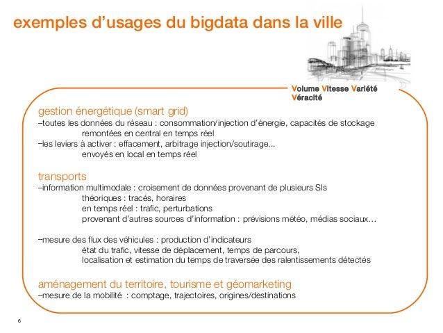 exemples d'usages du bigdata dans la ville                                                                        Volume V...