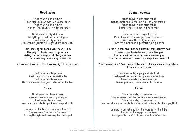 parole chanson jour 1