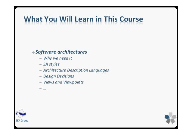 software design coursework Take courses online and learn software engineering best practices learn the ins and outs of apis, agile, scrum, and more.