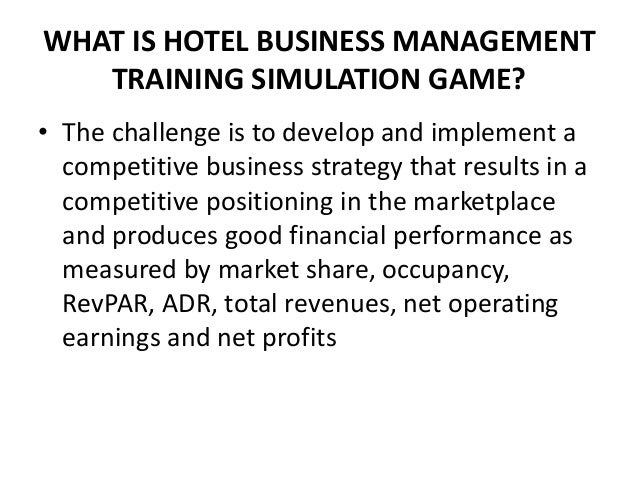What Is Hotel Business Management Training Simulation Game