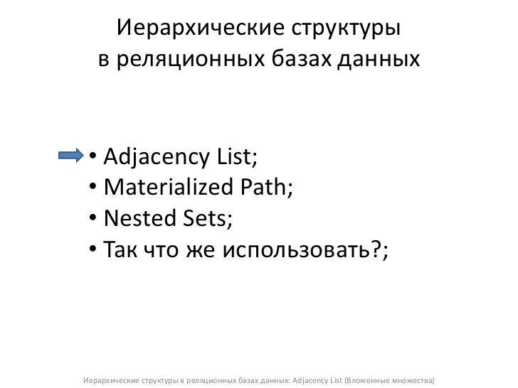 Вебинар Томулевича adjacency