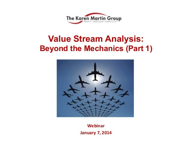 Value Stream Analysis: Beyond the Mechanics (Part 1)  Webinar January 7, 2014