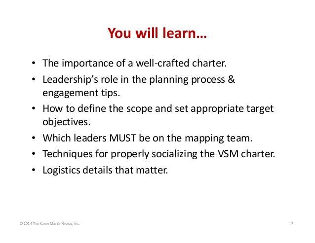 Youwilllearn… • Theimportanceofawell‐craftedcharter. • Leadership'sroleintheplanningprocess& engagementtips...