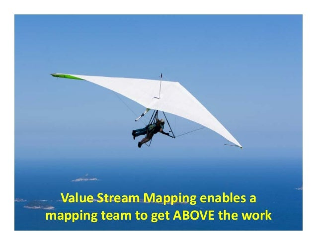 ValueStreamMappingBenefit: SeeingtheWhole  ValueStreamMappingenablesa mappingteamtogetABOVEthewo...