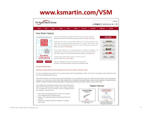 www.ksmartin.com/VSM  © 2014 The Karen Martin Group, Inc.  9