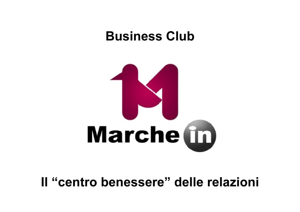 """Business Club     Il """"centro benessere"""" delle relazioni"""