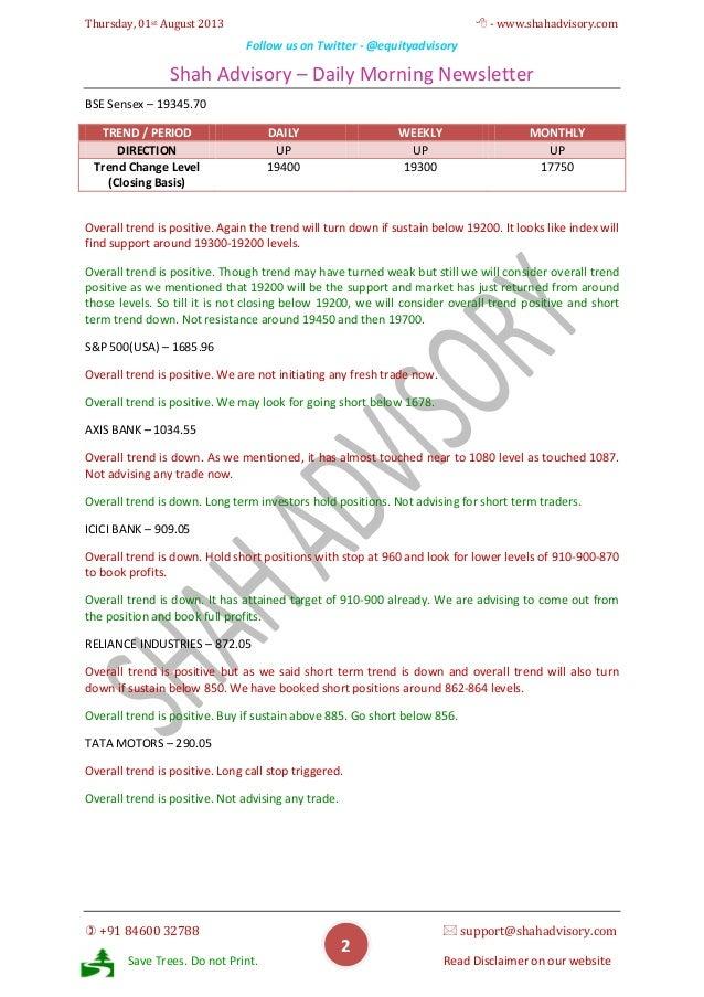 Daily Newsletter - 01-08-2013 Slide 2
