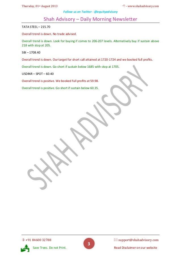 Daily Newsletter - 01-08-2013 Slide 3