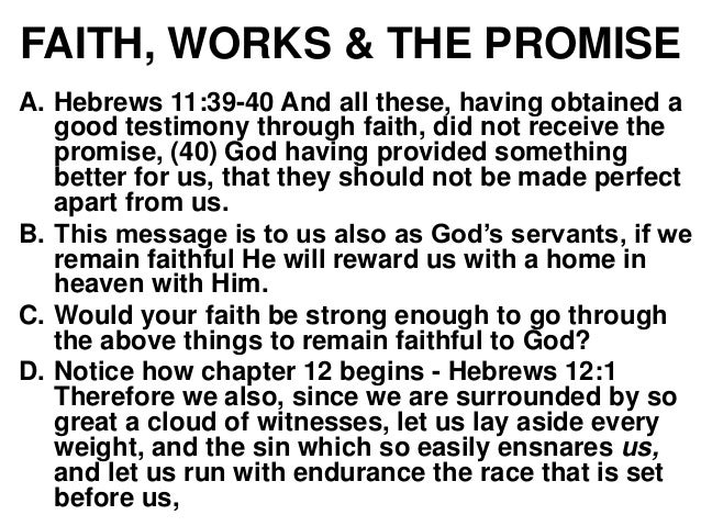 hebrews 11 - faith and works