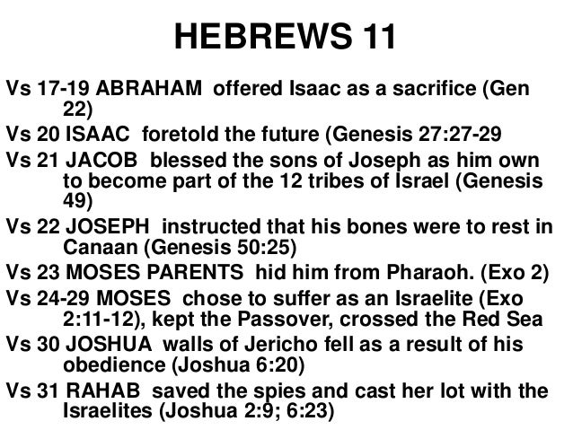 Hebrews 11:32-37 And what more shall I say? For the time would fail me to tell of Gideon and Barak and Samson and Jephthah...