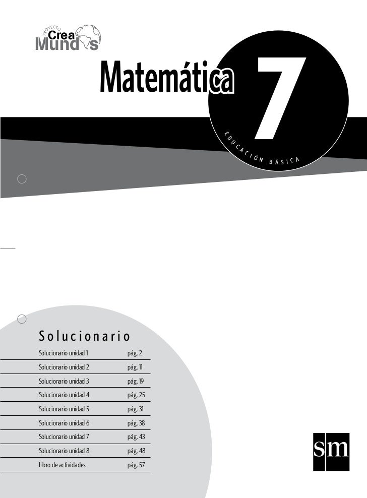 YECTO PR O        Crea                                                   7Mund s                        Matemática        ...