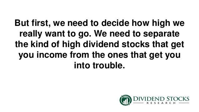 The best high dividend stocks for 2015 for High div stocks