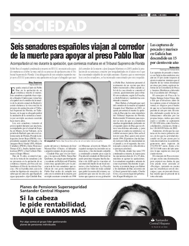 E spaña estará al lado de Pablo Ibar en la apelación de su condena a muerte el martes. Seis senadores españoles han viaja-...