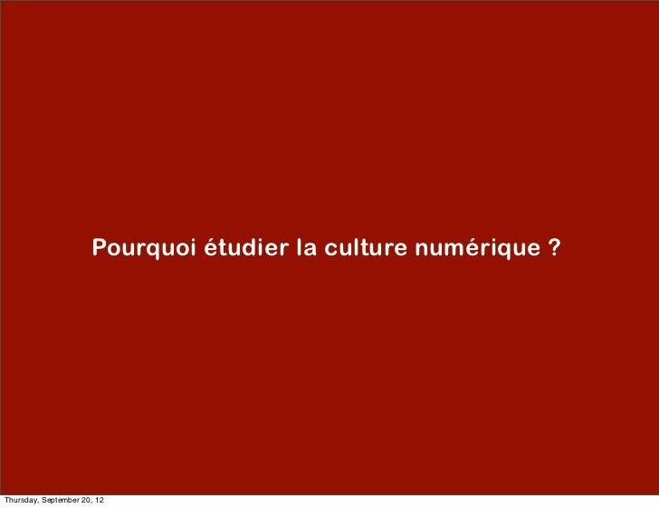 Culture Numérique Slide 2