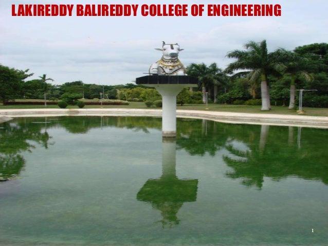 LAKIREDDY BALIREDDY COLLEGE OF ENGINEERING  1