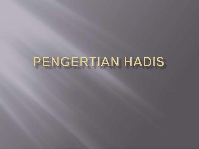 Terminologi Hadis