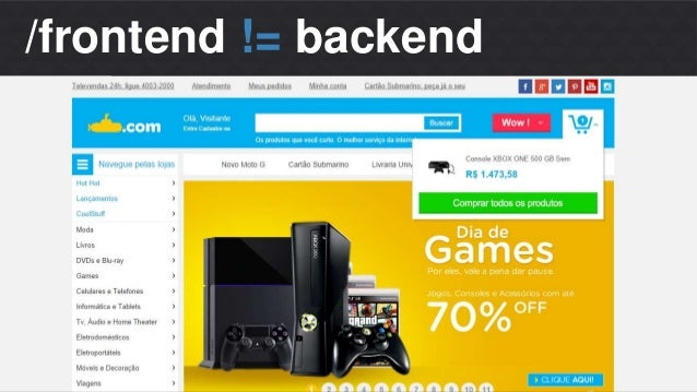 Matheus S. Thomaz  Front-end Developer  /frontend != backend