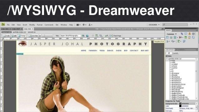 /WYSIWYG - Dreamweaver  Matheus S. Thomaz  Front-end Developer