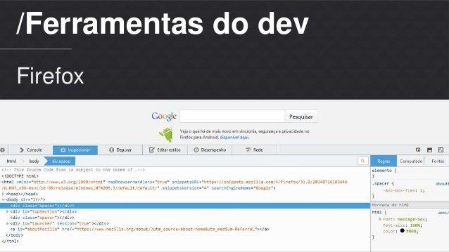 /Ferramentas do dev  Firefox