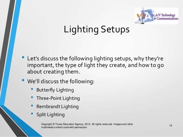 Lighting Setups ...  sc 1 st  SlideShare & 01.04 lighting azcodes.com
