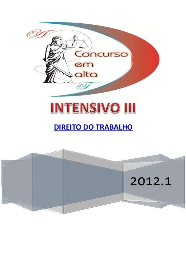 2012.1 DIREITO DO TRABALHO