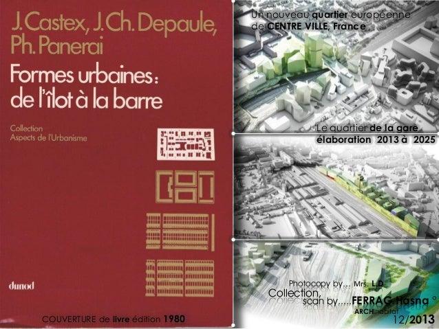 scan by.....FERRAG Hasna ° 12/2013COUVERTURE de livre édition 1980 Un nouveau quartier européenne de CENTRE VILLE, France ...