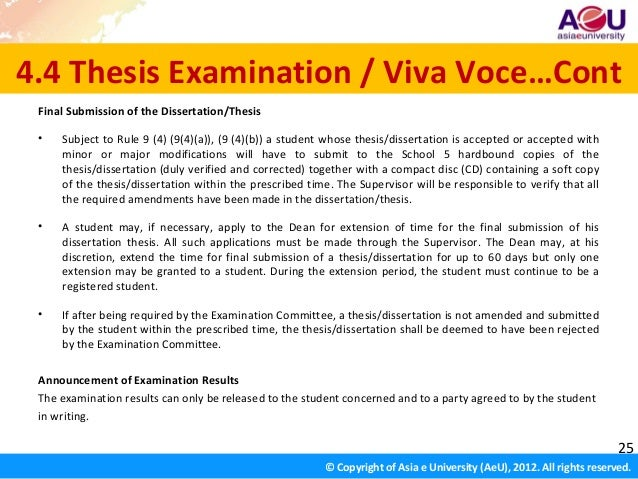 nbe thesis submission