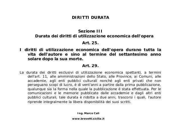 Il marchio e il diritto d 39 autore - Diritto di abitazione durata ...